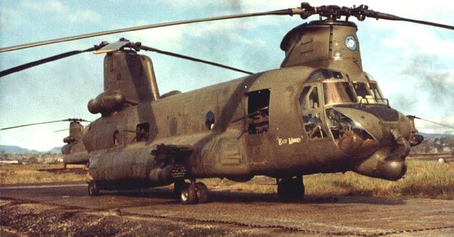 "Boeing CH-47A helicopter 64-13149, ""Easy Money"",  - One of the original four Guns A Go-Go Armed CH-47s."