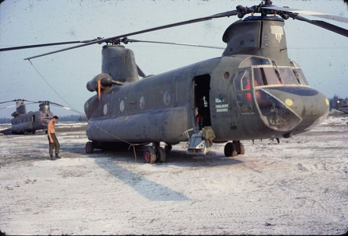 CH-47A Chinook helicopter 66-00094 at Phu Bai, Vietnam, July 1968