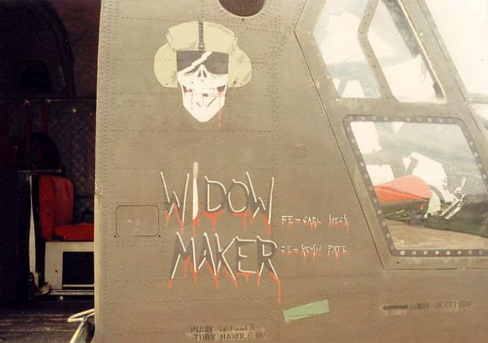 "CH-47C 71-20955 ""Widow Maker"" -  Korea, circa 1983."
