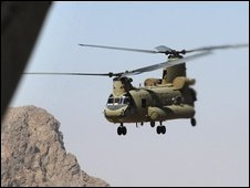 CH-47F Chinook helicopter lost in Afghanistan.