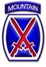 Shoulder patch of the 10th Mountain Division.