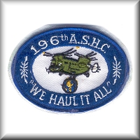 "A unit patch from the 196th Aviation Company - ""Flippers"", from their days in the Republic of Vietnam."