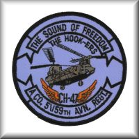 Unit patch from Company A, 5th Battalion, 159th Aviation Regiment, Washington Army Reserve, circa 2003.