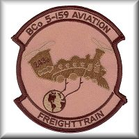B Company, 5th Battalion, 159th Aviation Regiment unit patch - March 2003.